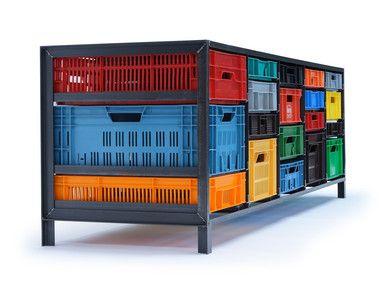 Crates cabinet by Mark van der Gronden (Droog Design) - love it! (http://www.droog.com/store/furniture/crates-cabinet/)