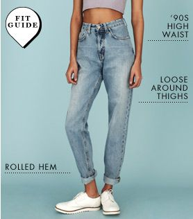 Love the 90's styled jeans, from asos