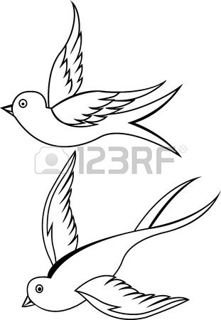 Swallow vogel tattoo Stockfoto