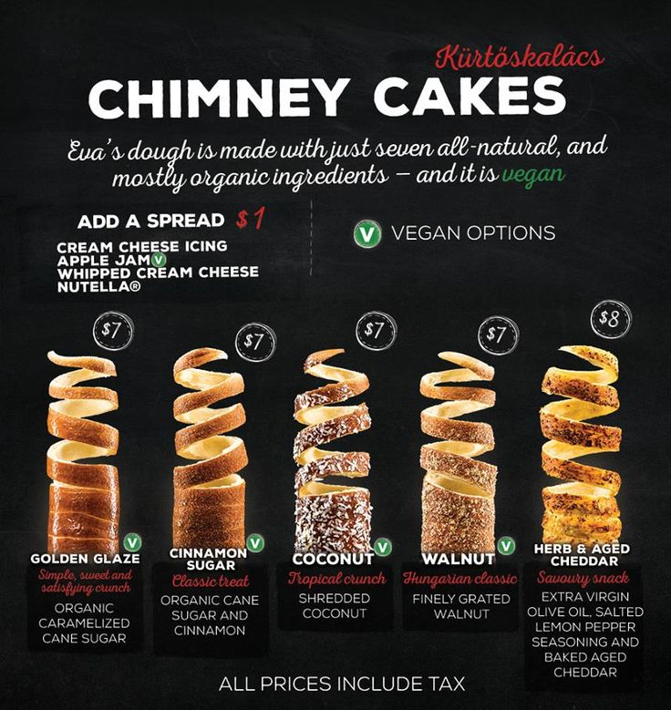 WOW Our customer, Eva's Original Chimneys new menu is simply fantastic!