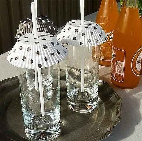 You can also use them to keep your drinks bug-free!