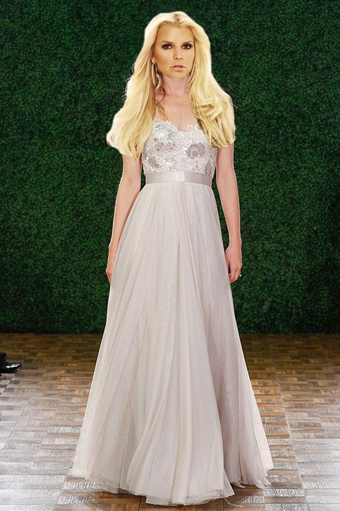 Jessica Simpson's Wedding Dress: 6 Non-White Gowns for Second-Time Brides