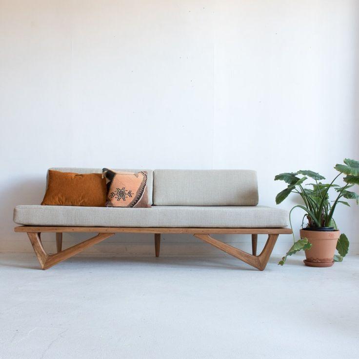 Cherry Boomerang Sofa by atomic