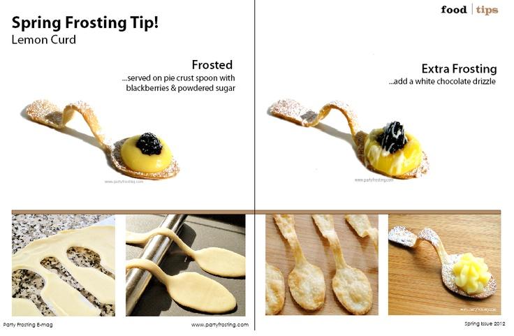 Pie crust edible spoon tutorial! www.partyfrosting.com