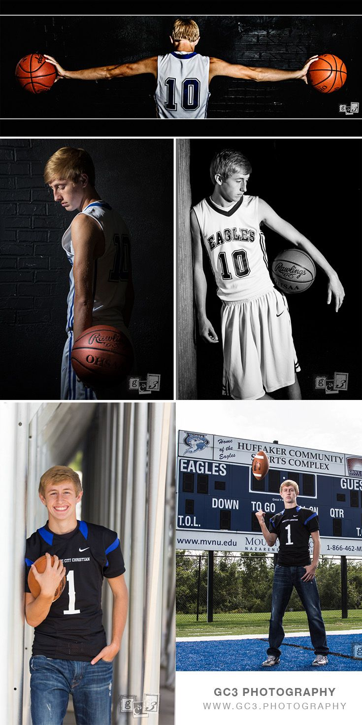 Posing ideas for senior boys who play sports - football/basketball   www.gc3.photography   check out more seniors at www.facebook.com/gc3photography