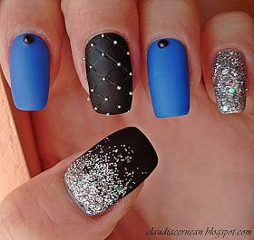 Nails Art Tutorials: Unghii Mate cu Sclipici - Matte Nails with Glitter