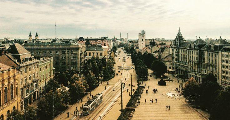 Main street, Debrecen