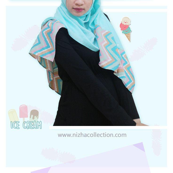 #scarf #pasmina #pasminakombinasi #icecream #shawl #hijabchic #hijabstyle #hijabers