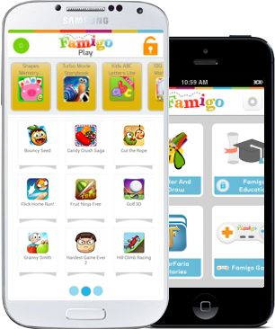 Famigo! A kid-friendly app that keeps them from doing anything they shouldn't be doing. Look at all the stuff it comes with!