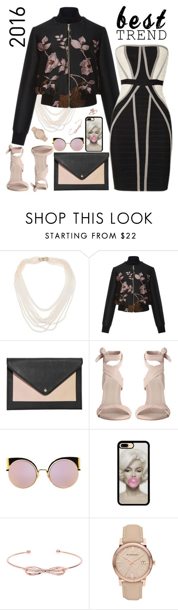 """Bomber Jacket & Bandage Dress"" by petalp ❤ liked on Polyvore featuring Oscar de la Renta, Elie Saab, Boohoo, Zimmermann, Fendi, Ted Baker, Burberry, dress and jacket"