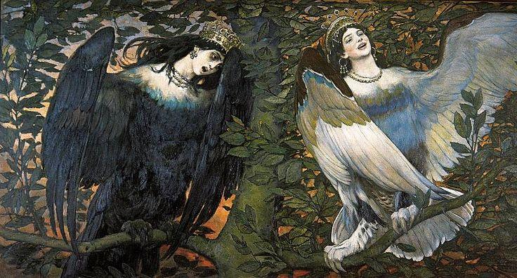 Виктор Васнецов Сирин и Алконост. Песнь радости и печали. 1896