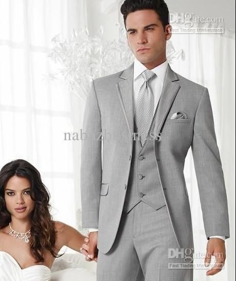 Whole Groom Tuxedos Best Man Suit Wedding Groomsman Men Suits Bridegroom