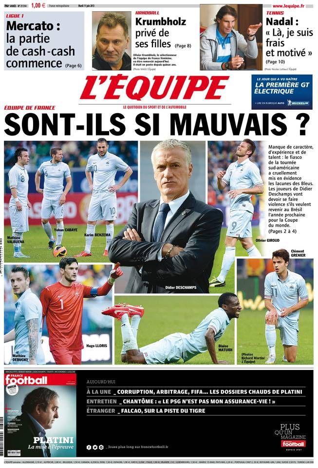 L'Équipe Mardi 11 Juin 2013 N° 21514 Premiers sons