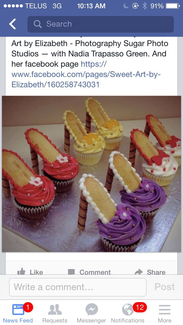 High heel shoes cupcakes