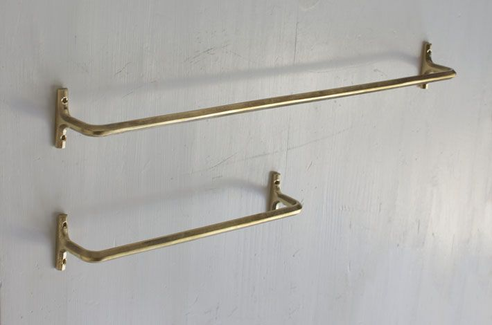 FUTAGAMI Brass Towel Hanger - Design by Masanori Oji