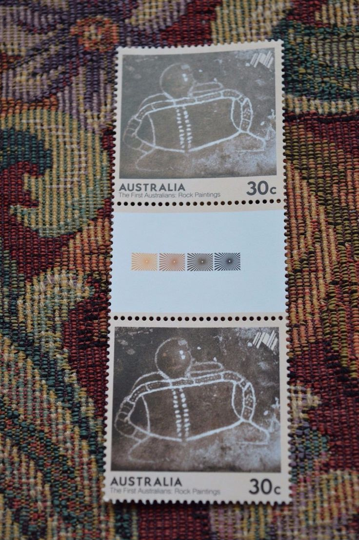 1984 The First Australians - Rock Paintings 30c gutter block of two muh in Stamps, Australia, By Type | eBay!