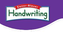 Zaner Bloser Fonts Online Plus- make handwriting worksheets and practice pages in manuscript or cursive