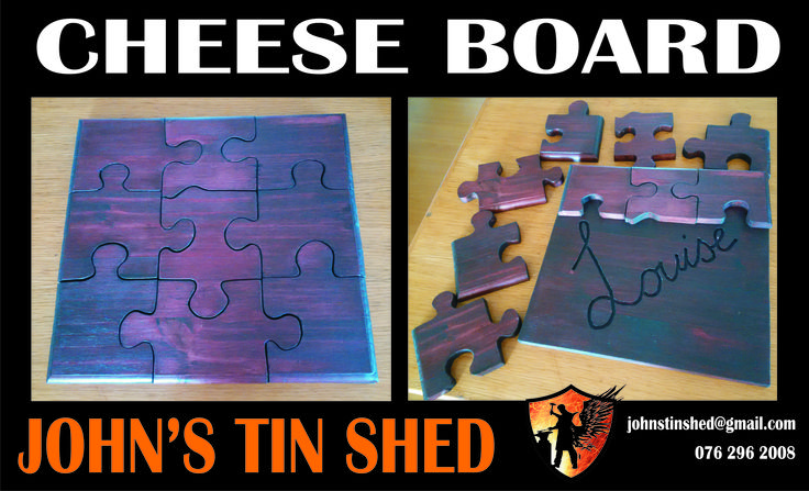 Custom Puzzle Cheese Board