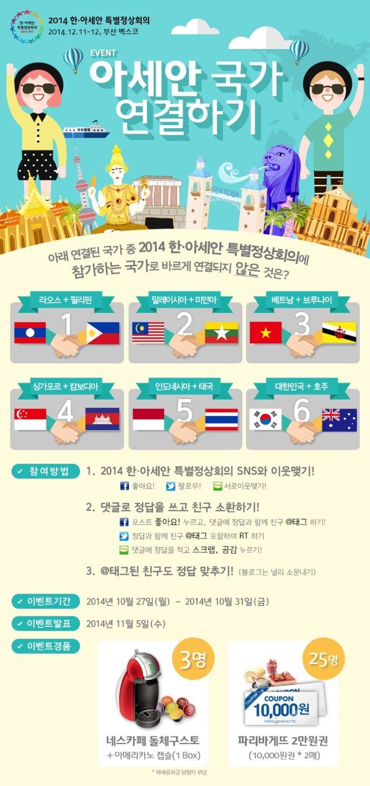 2014 한ㆍ아세안 특별정상회의 아세안 국가 연결하기 이벤트  http://blog.naver.com/rokasean/220160136106
