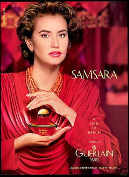 Guerlain Samsara Perfume with the essence of lily and magnolia.  One of my favorite perfumes.