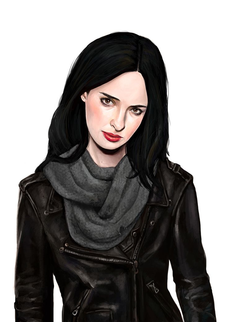 Krysten Ritter as Jessica Jones for the Netfix/Marvel TV series of the same name and The Defenders.  Painted in 2016.