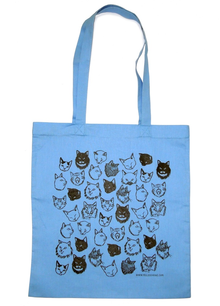 Cats tote bag from Totes Amazed by hellojenuine £10 http://www.totesamazed.co.uk