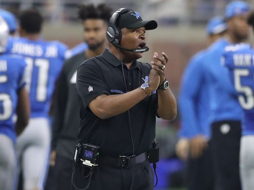 Redskins vs. Lions;   -   October 23, 2016  -  20-17, Lions  -     Detroit Lions head coach Jim Caldwell watches the action against the Washington Redskins Sunday, Oct. 23, 2016 at Ford Field in Detroit.  Kirthmon F. Dozier, DFP