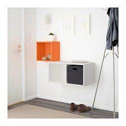 IKEA - EKET, Wall-mounted cabinet combination, orange/white