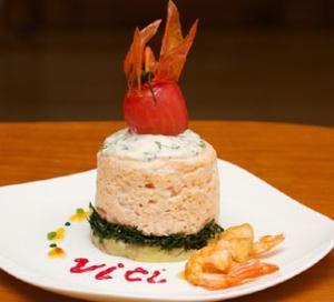 Сливочное суфле из креветок и филе семги с жареным сыром камамбер. Пошаговый рецепт с фото, удобный поиск рецептов на Gastronom.ru