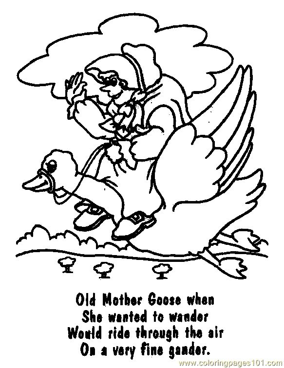 mothergoose coloring pages - photo#12