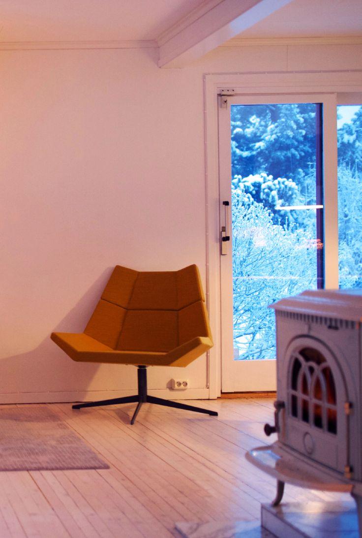 Ingrid Holm Blog - yellow modern chair winter s Scandinavian home