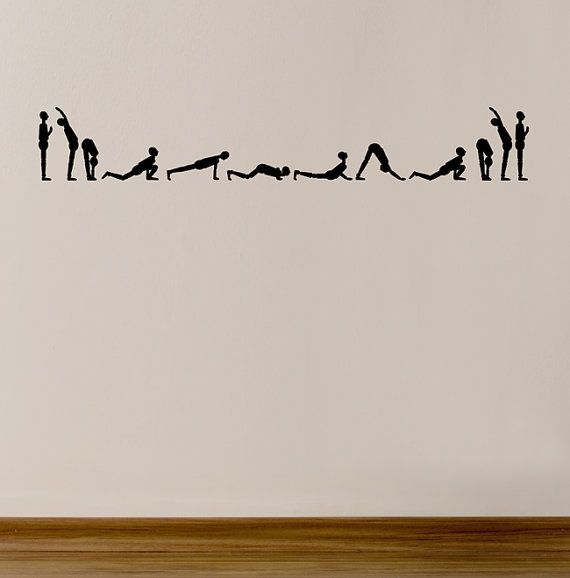 Sun Salutation Yoga Original wall Art decals by ArtitudeUandArt, $39.50
