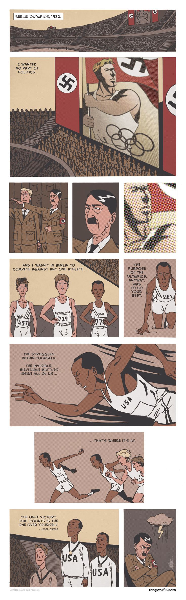 JESSE OWENS: The inevitable battle