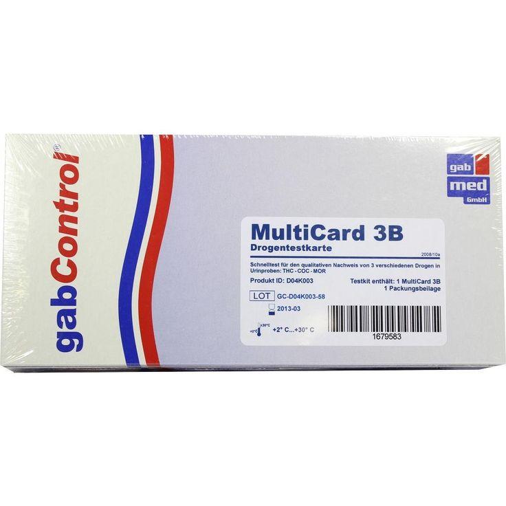DROGENTEST Multi 3B COC-MOR-THC Testkarte:   Packungsinhalt: 1 St Test PZN: 01679583 Hersteller: gabmed GmbH Preis: 9,14 EUR inkl. 19 %…