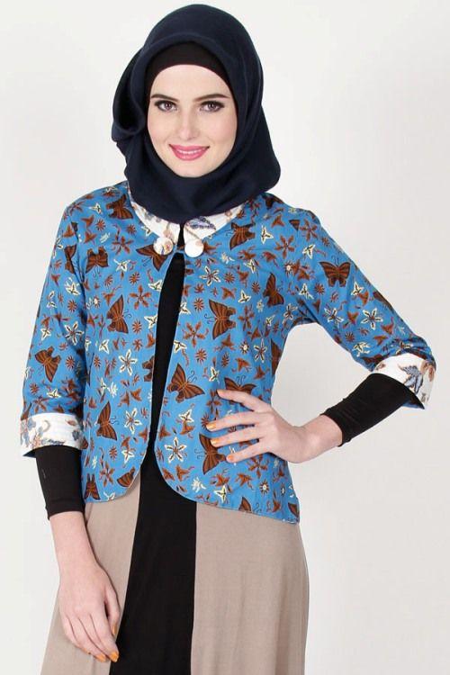 crop blazer batik