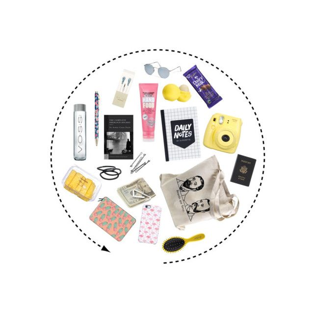 """""""What's in my bag"""" by petrificustxtalus on Polyvore featuring Mode, Casetify, Crate and Barrel, Eos, Accessorize, Uncommon, BOBBY, Goody, Ray-Ban und Royce Leather"""