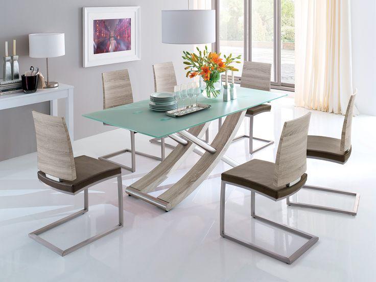 Un dining plin de stil...  #living #dining #sticla #masa #scaune #modern #flori #alb #decoratiuni #accesorii #veioza