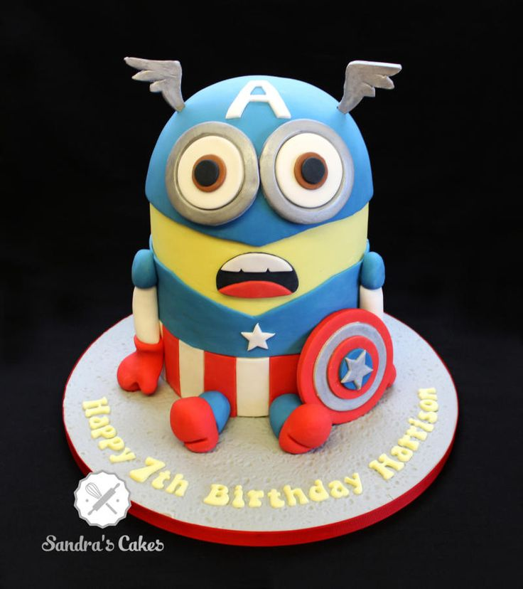 Captain America Minion - For all your cake decorating supplies, please visit craftcompany.co.uk