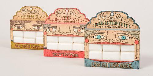 LOVE THIS IDEA!!! Wish it was for mints instead of soaps. - Student: Fleur De Vie, Potty Mouth Soaps