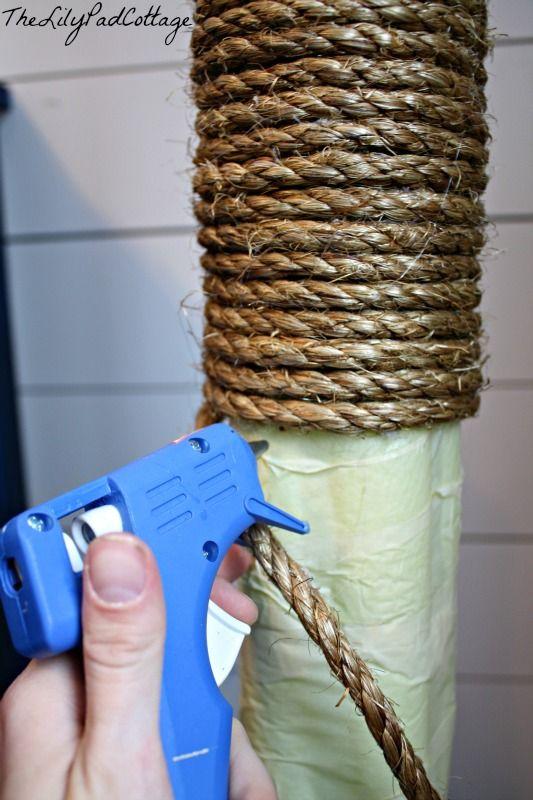 Rope Lamp DIY - www.thelilypadcottage.com