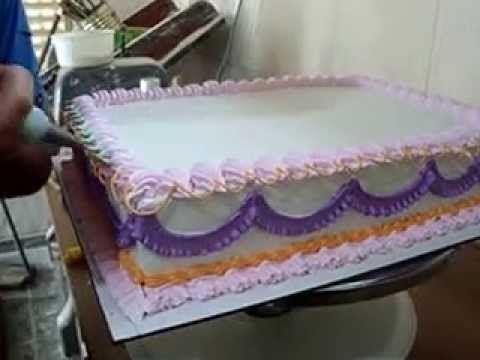 Decoración torta con merengue italiano,técnica de las rosas con el palillo - YouTube