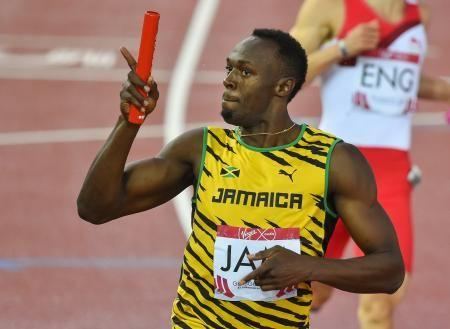 英連邦大会の男子400メートルリレー決勝にジャマイカのアンカーとして出場し、優勝に貢献したウサイン・ボルト=グラスゴー(ゲッティ=共同) ▼3Aug2014共同通信|陸上のボルト、17年まで続行か 世界選手権出場を示唆 http://www.47news.jp/CN/201408/CN2014080301001312.html #Usain_Bolt #يوسين_بولت #尤塞恩_博尔特 #尤塞恩_保特 #尤塞恩_柏特 #Усэйн_Болт