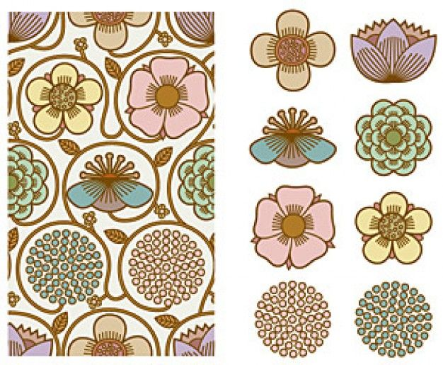 free South Korea Background pattern vector material Series -7