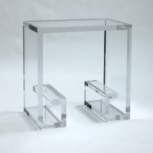 amazing lucite side table cb2 also has lucite tables but nothing like this - Lucite Table