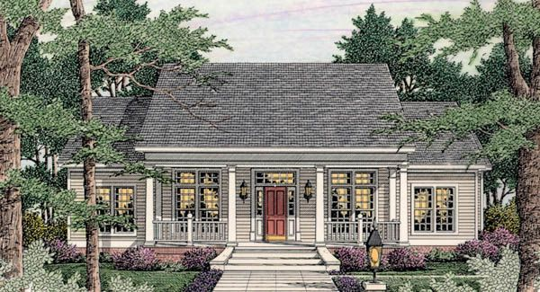 1 story cottage house plan