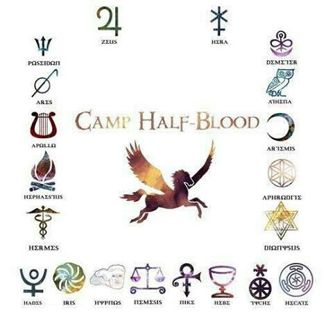 The 12 Olympians based of of Rick Riodans Percy Jackson.