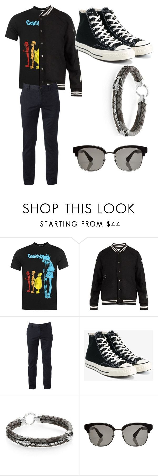 """""""Gth"""" by humbertocardozo ❤ liked on Polyvore featuring Off-White, Urban Pipeline, Converse, StingHD, Gucci, men's fashion and menswear"""