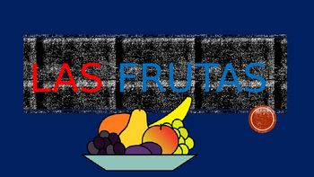 "This Spanish Interactive Lesson is the perfect tool to introduce your students to "" Las Frutas""  It is a complete introductory unit with over  25 slides including the name of the fruit in Spanish, clip art of the fruit and the meaning in English. The Power Point includes1- 24 slides of different tropical & seasonal fruits including Vocabulary in Spanish  picture of the fruit and English meaning."