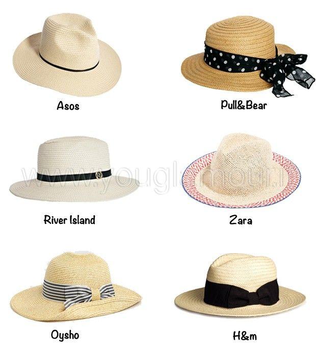 Cappelli di paglia, accessorio must have dell'estate