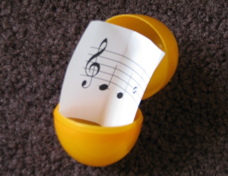 Happy Easter! What if you put music into your eggs instead of candy?